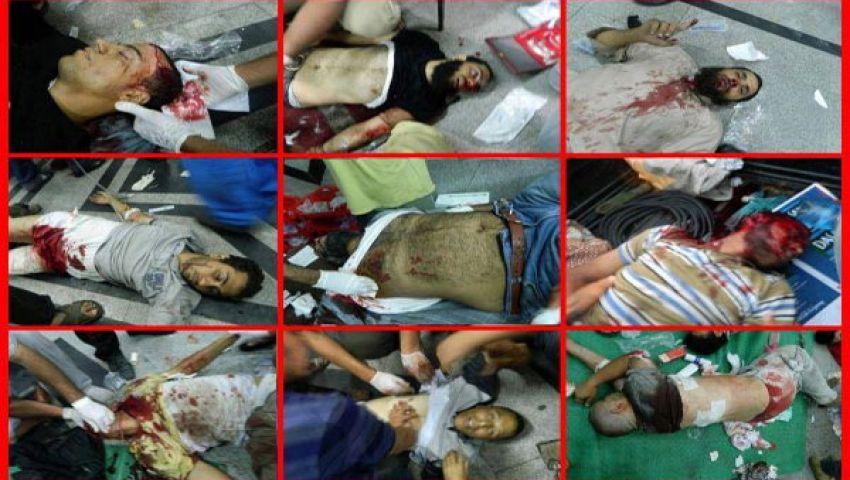 إصابات مجزرة الحرس الجمهوري رصاص حي في الصدر والبطن