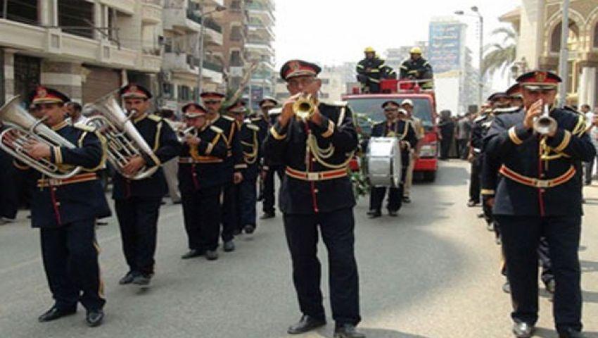 جنازة عسكرية لشهيد الشرطة بالقليوبية