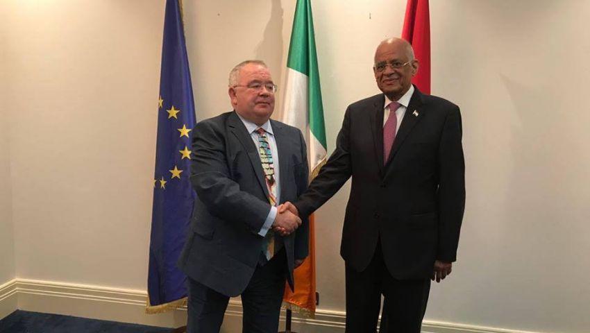 عبد العاللرئيس برلمان أيرلندا: الوقت ملائم لتعزيز العلاقات بين البلدين
