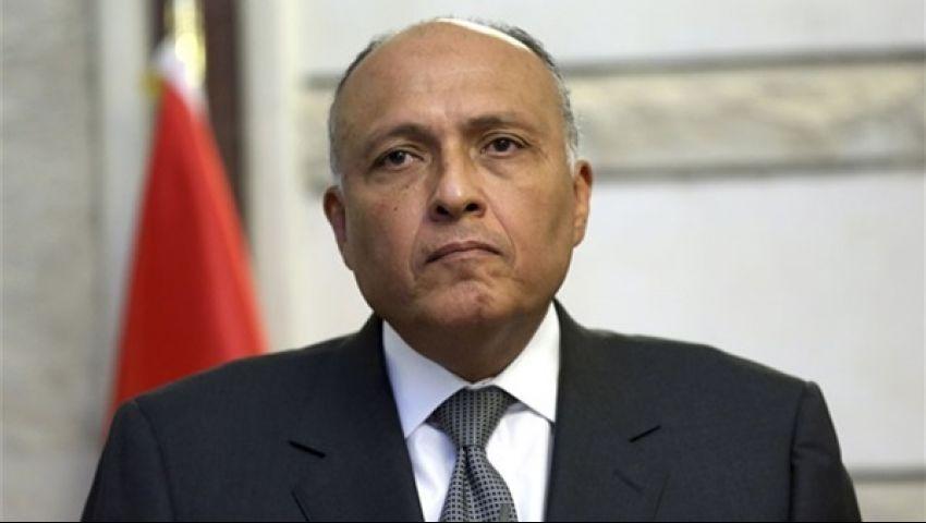 سامح شكري يغادر القاهرة لحضور جنازة شيمون بيريز