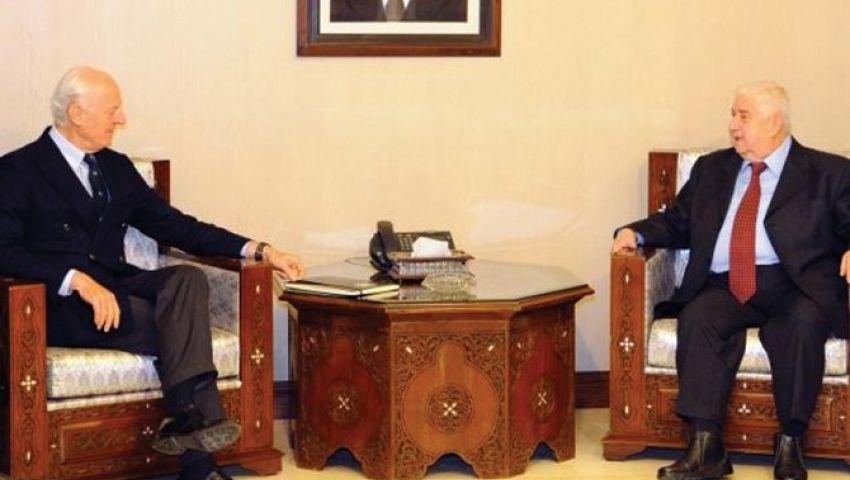 المعلم لـ دي ميستورا: المفاوضات بعد الانتخابات البرلمانية