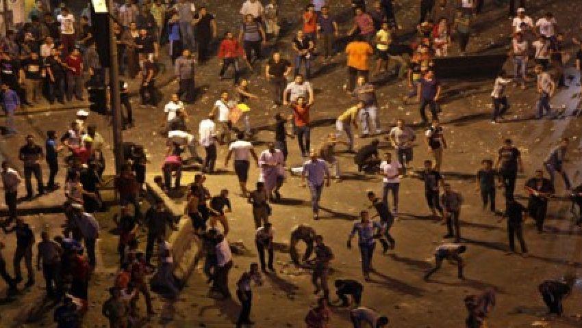 إصابة العشرات من مؤيدي مرسي برابعة بالغاز والخرطوش