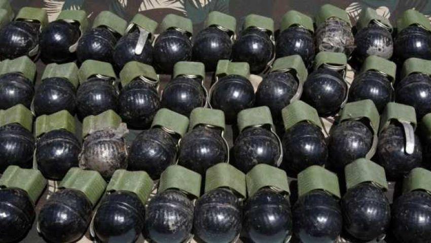 ضبط فلسطيني بالعريش وبحوزته مادة لتصنيع المتفجرات