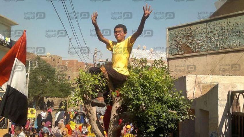 بالصور.. وانتصرت غزة تتصدر مسيرات بني سويف