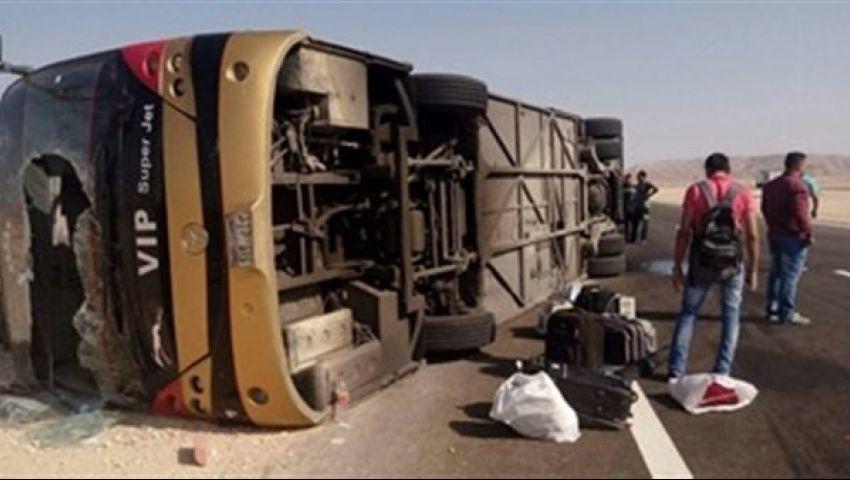 «يا رحلة ما تمت».. انقلاب أتوبيس طلاب جامعة عين شمس