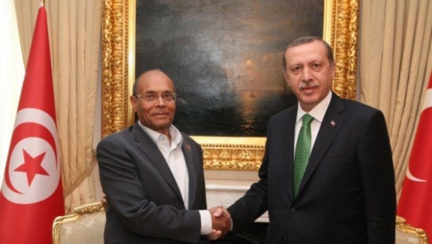 أردوغان والمرزوقي يناقشان الأوضاع بغزة