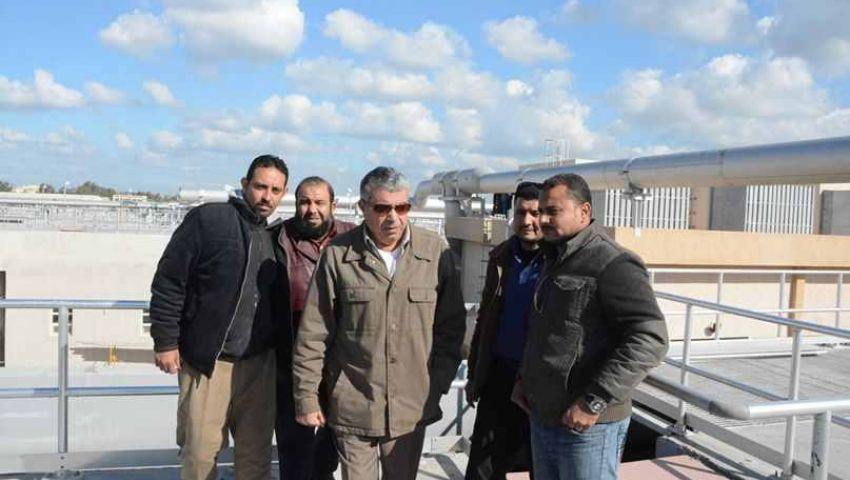 بالصور.. محافظ الإسكندرية يتفقد محطة التنقية الشرقية قبل قيام محلب بافتتاحها