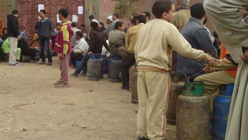 قطع طريق القاهرة ـ أسيوط احتجاجًا على تصاعد أزمة البوتاجاز