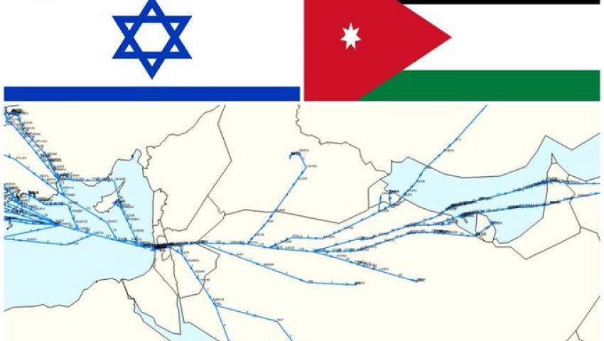 الأردن تفتح أجواءها أمام رحلات الطيران الإسرائيلي