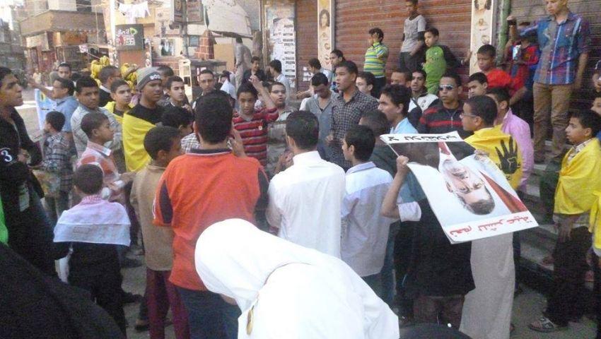 تظاهرة بـ أبو تيج أسيوط للتنديد باعتقال 7 من أنصار مرسي