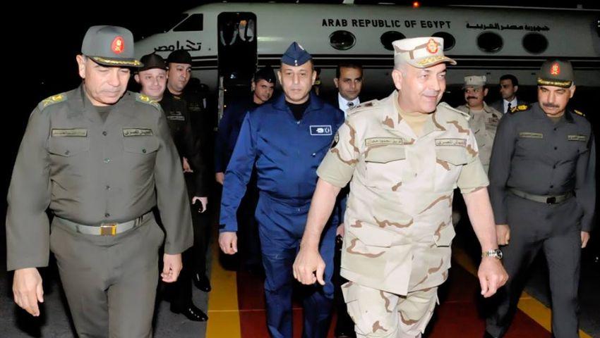 بالصور| عودة رئيس الأركان من السعودية بعد فاعليات رعد الشمال