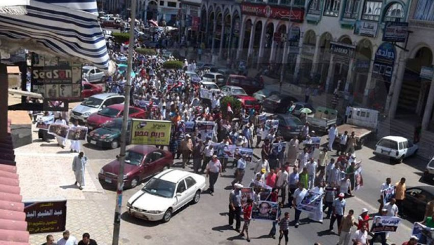 مسيرة لتأييد الشرعية بدمياط الجديدة