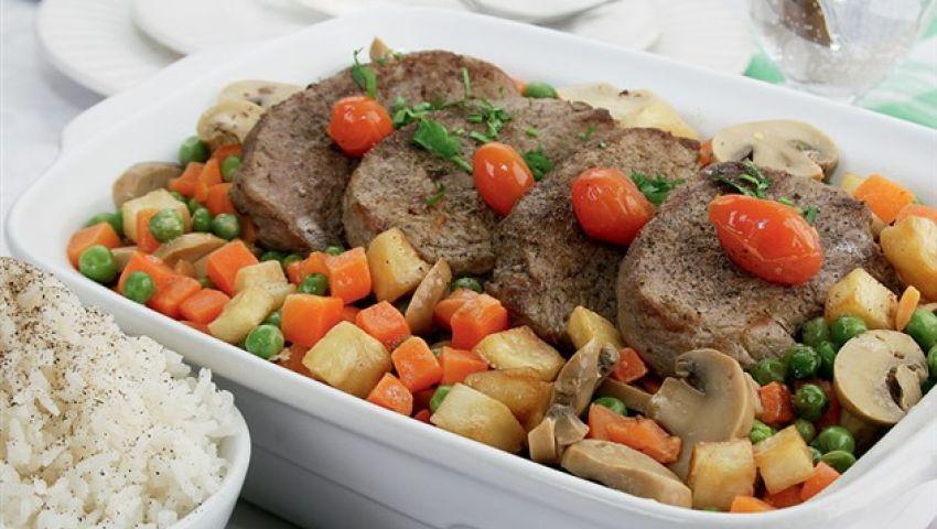 يخنة اللحم بالخضروات السعودي