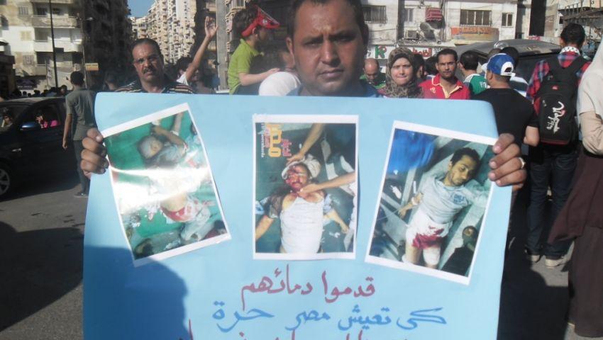 بالصور.. مسيرة لمؤيدي مرسي بالإسكندرية