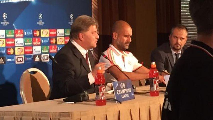 جوارديولا يحذر لاعبيه من خطورة أولمبياكوس