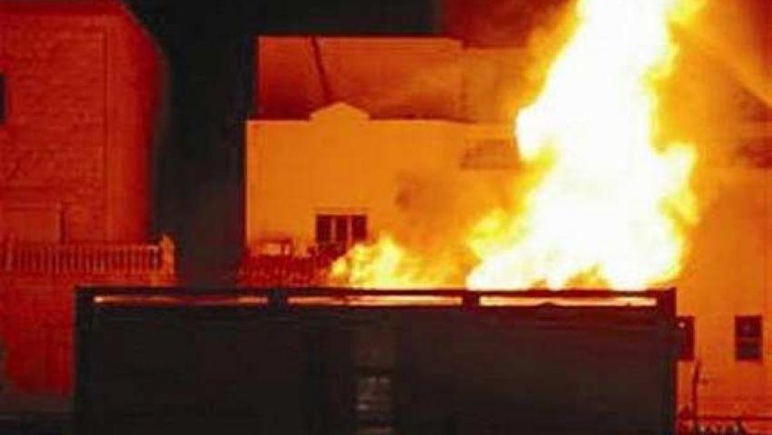 حرق محلات وعيادات ومنازل لـإخوان بالمنوفية