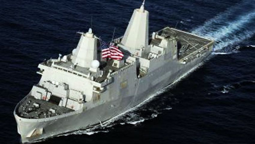 سفينة حربية أمريكية تصل ميناء حيفا الإسرائيلي