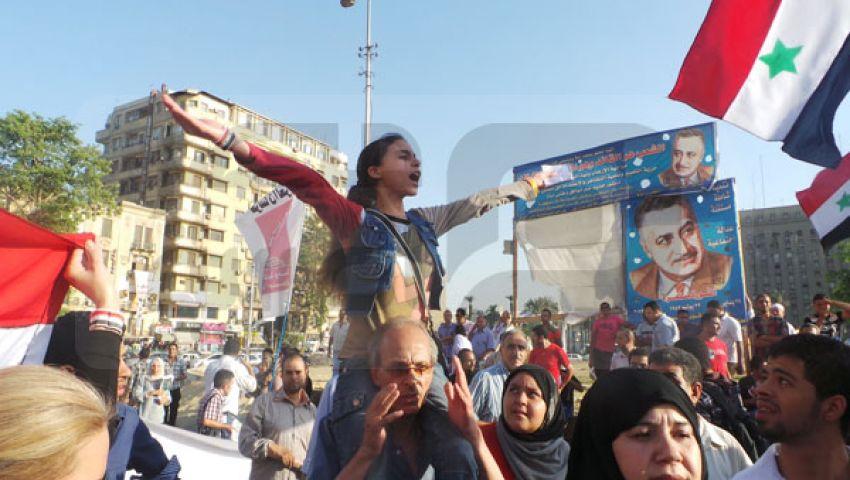 طفلة تقود مسيرة رفض ضرب سوريا