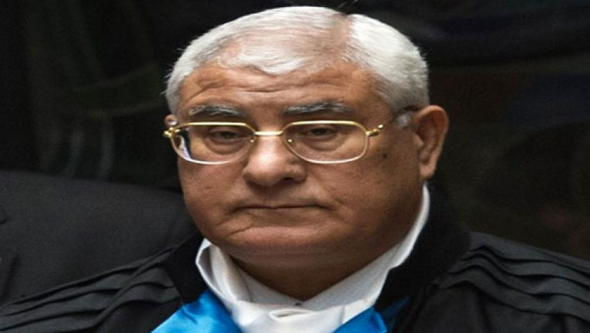 دعوى تطالب ببطلان تعيين منصور رئيساً مؤقتاً لمصر