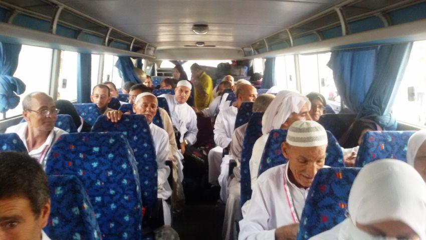 فائزو حج القرعة بشمال سيناء يغادرون العريش للتوجه للأراضي المقدسة