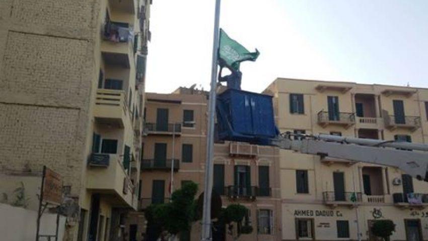 بالصور  عابدين يتزيَّن استعدادًا لزيارة خادم الحرمين