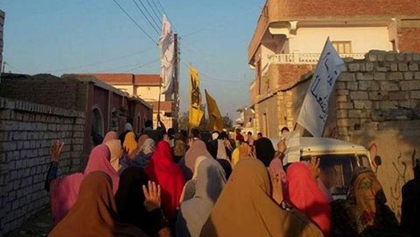 تفريق مسيرة معارضة بأبو المطامير والقبض على 6 من المشاركين