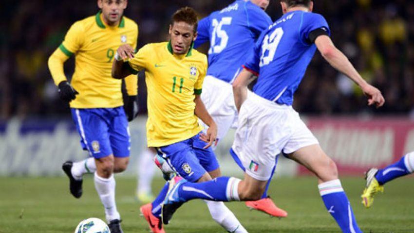 فيديو..البرازيل تتقدم على إيطاليا بهدف
