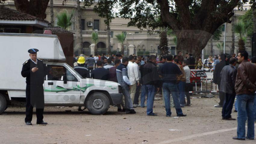 تفكيك قنبلة رابعة أمام جامعة القاهرة