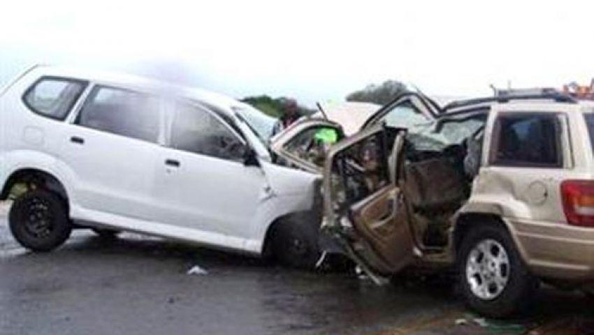 إصابة 12 شخصا في تصادم سيارتين بالإسكندرية