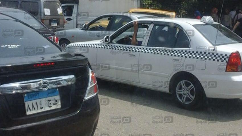 بالصور| شلل مرورى بمحيط جامعة القاهرة لزيارة الملك سلمان