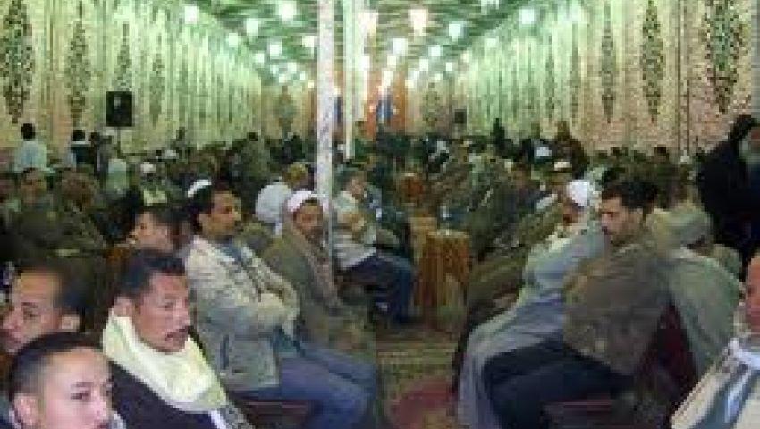سرادق عزاء جماعى لضحايا أحداث مجزرة قرية ميت العطار ببنها