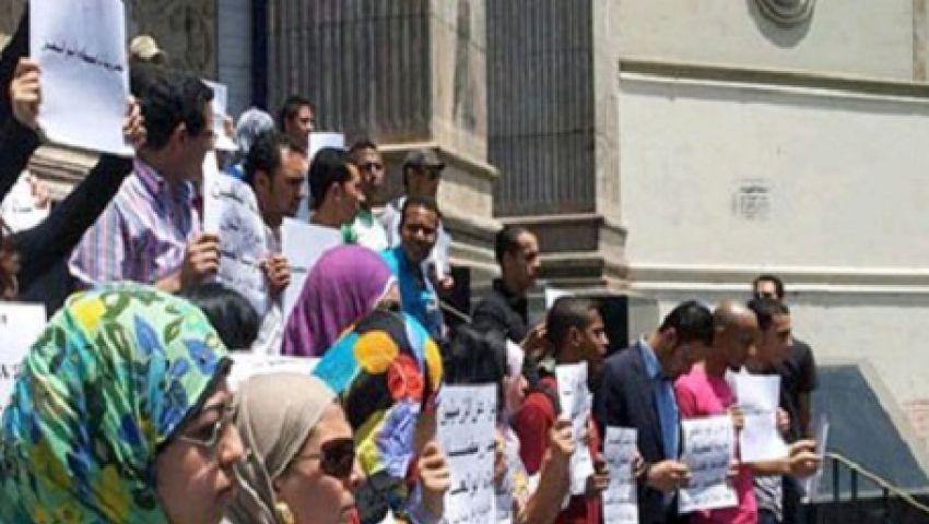 وقفة لـصحفيون ضد الانقلاب تنديدا باعتقال الصحفيين