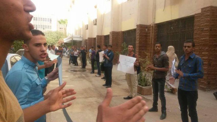 فيديو..تظاهرة طلابية بكلية صيدلة الزقازيق