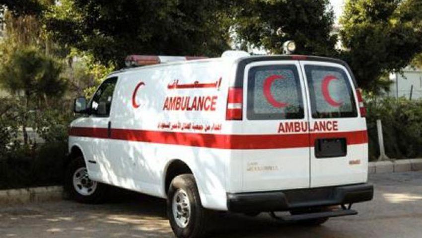 الهلال الأحمر يدفع بسيارة إغاثة أمام محافظة الغربية