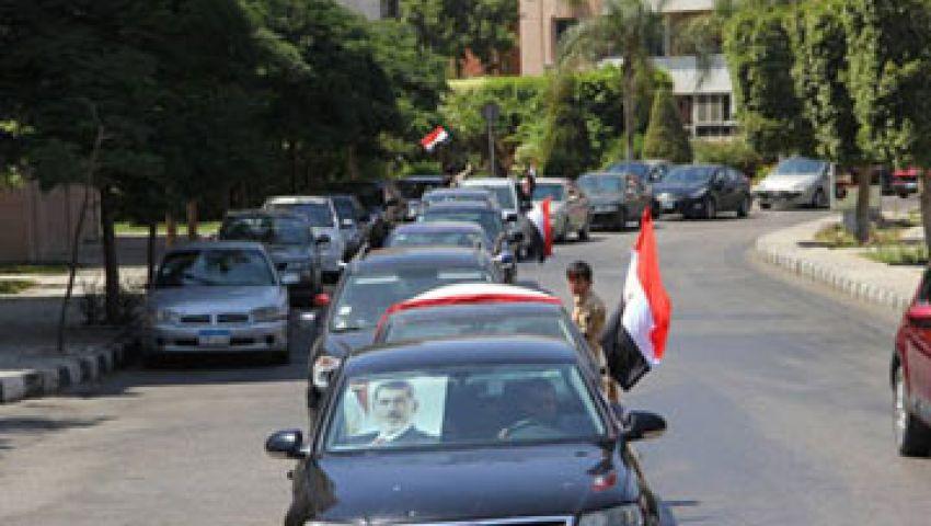مسيرة بالسيارات لأنصار مرسي تطوف بلطيم
