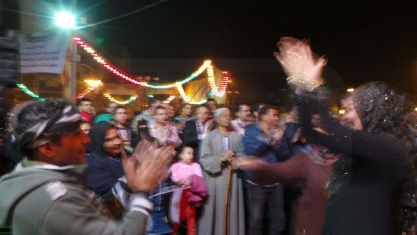 بالصور.. احتفال مدينة واحدة من 10 مدن بـكفر الشيخ بإقرار الدستور