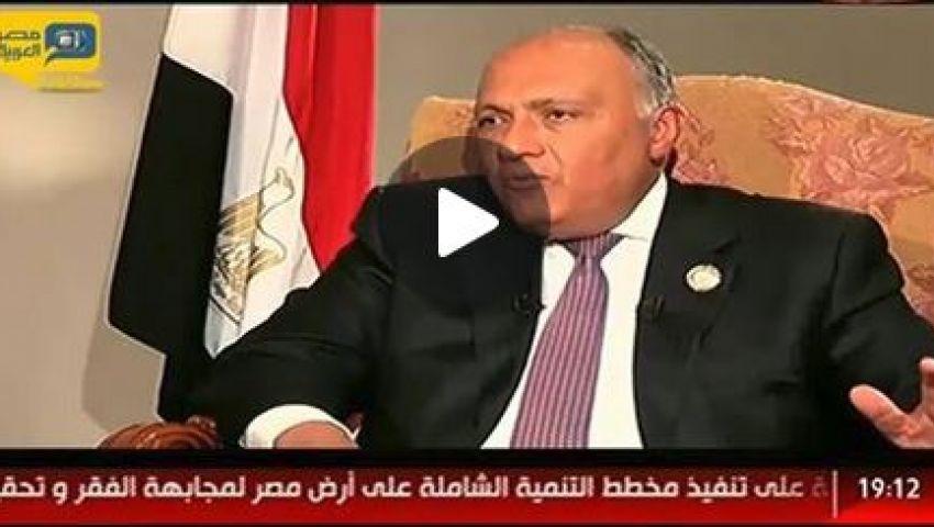 فيديو.. وزير الخارجية: مصر ليس لديها أطماع في سوريا
