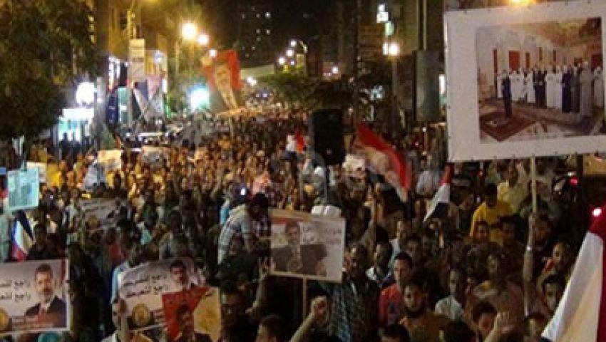 مسيرات لمؤيدي مرسي تجوب شوارع بني سويف