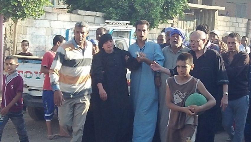 بالصور.. قرية دراجيل المنوفية تودع شهيد هجوم العريش
