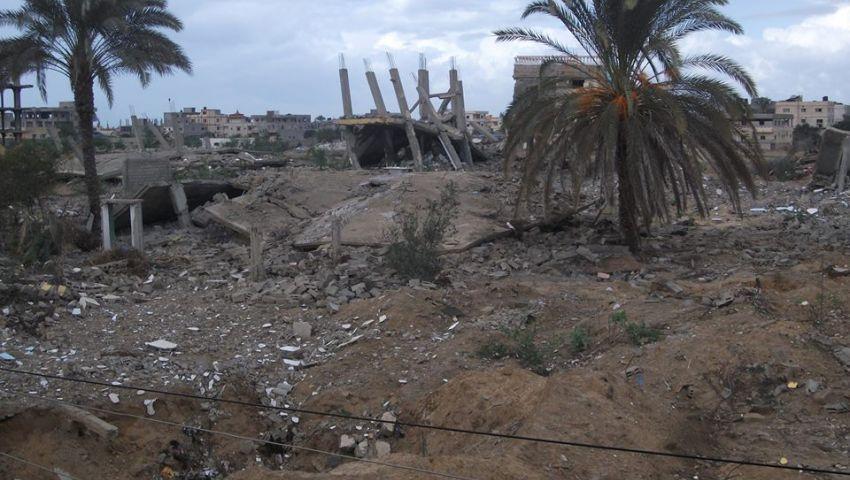 الجيش يواصل هدم منازل المرحلة الثانية من المنطقة العازلة برفح