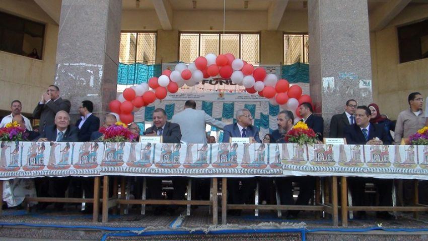 احتفالية في جامعة المنيا بيوم الطالب العالمي