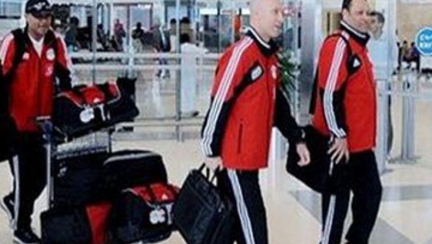 المنتخب يصل القاهرة وسط إجراءات أمنية مشددة