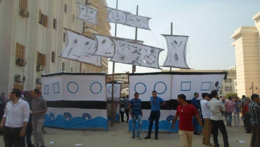 مجهولون يلقون المولوتوف على بوابة جامعة بني سويف