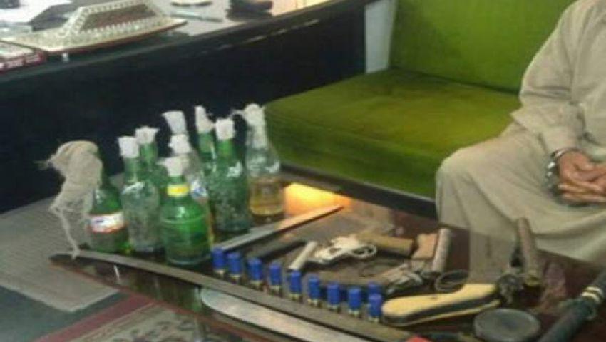 ضبط 4 بحوزتهم طبنجة صوت و36 زجاجة مولوتوف بالأقصر