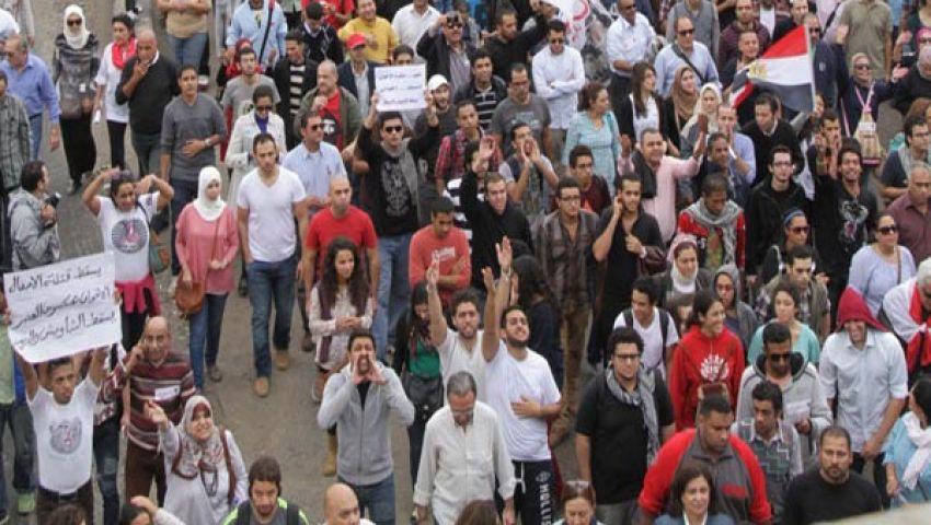 انطلاق مسيرة مصطفى محمود متوجهة للتحرير