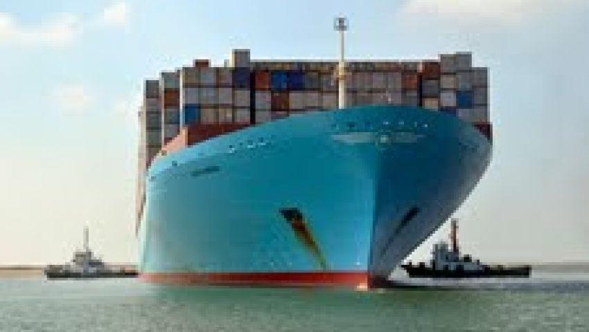 ميناء بورسعيد يستقبل أكبر سفينة حاويات بالعالم