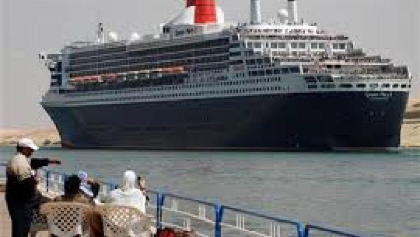 عبور 45 سفينة المجرى الملاحي لقناة السويس