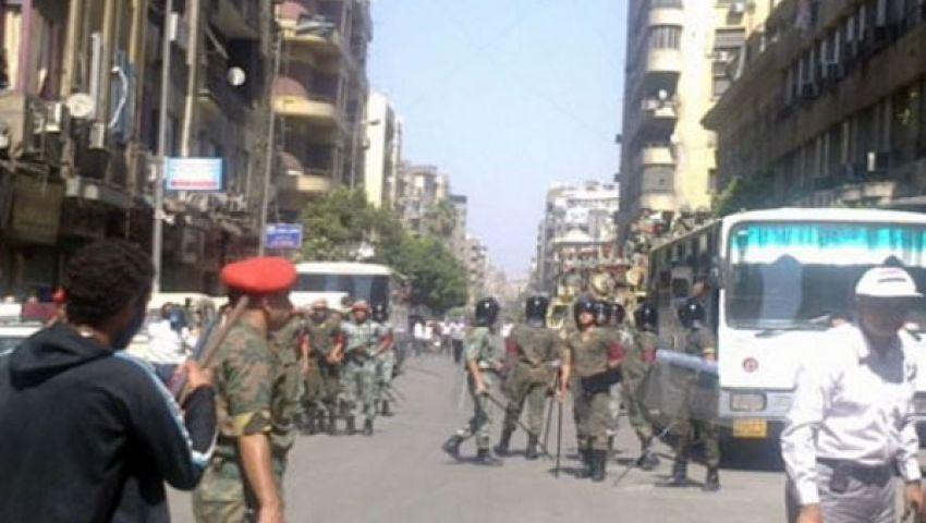 الشرطة العسكرية تغلق منفذًا بكوبرى القبة