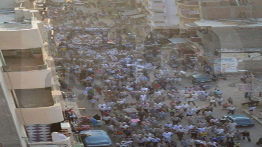آلاف يجوبون شوارع الفيوم تأييدًا لمرسي