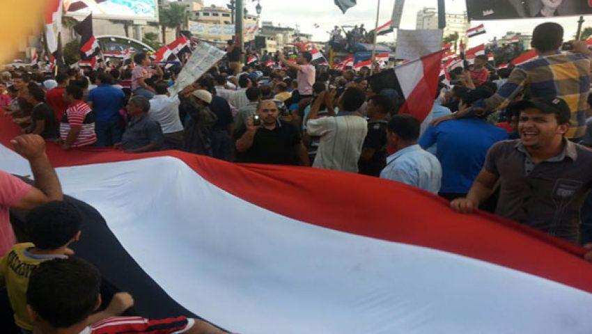 20 مصابا بضربات شمس في مظاهرات دمياط